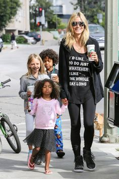 Heidi Klum and her kids do Whatever They Like in Brentwood