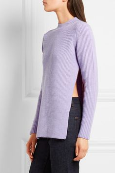 Lilac wool Slips on 100% wool Dry clean  Designer color: Lilas