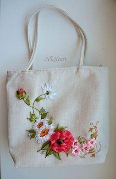 Silk ribbon embroidery #SilkRibbonEmbroidery