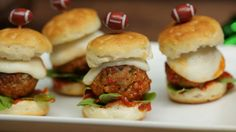 Flaky, buttery biscuits piled high with delicious meatballs and slathered in marinara. A southern twist on an Italian classic!