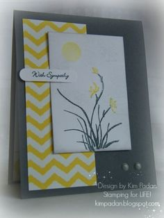 handmade card: Virtually Brighter Grey by berlycece - ... mod graphic look ... Asian Artistry ... deep gray, white and bright yellow ...