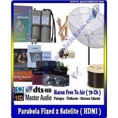 PARABOLA FIXED 2 SATELITE (HDMI)  Benefit & Keuntungan Yang Anda Dapatkan : - 1 Unit Dish 7 Feet Mesh - 1 Unit Reciever HDMI  - 1 Unit LNBF Palapa/Telkom - 10 Meter Kabel 5C-75 Ohm - 1 Unit Tiang Triport - Siaran Bebas Iuran (70 Channel) - Gratis Biaya Pemasangan - Garansi Barang 1 Tahun (Receiver)   Pesan & Pasang Sekarang Juga...!!!  Pusat Elektro Phone : (021) 560 5533 Mobile : 0812 8930 5533 W.A. : 0859 5905 5000  Info Lengkap :http://www.pusatelektro.com