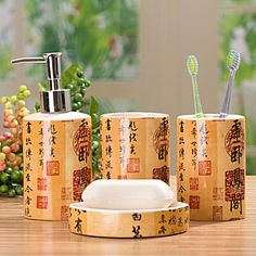 Ceramic Bathroom Four Piece Set Combination Of Chinese Style Sanitary Ware Supplies