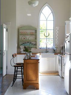 Antique, modern mix kitchen