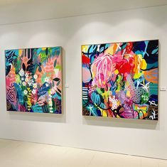 My two paintings (each x hanging on the wall in the Group exhibition Nineteen ~ Twenty 🎉🎉🌺💫 Painting Inspiration, Art Inspo, Graffiti, Canvas Artwork, Eyes Artwork, Hippie Art, Abstract Wall Art, Modern Art, Contemporary Abstract Art