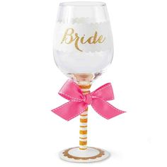 Bride Glittered Wine