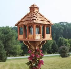Large Wooden Bird Feeder