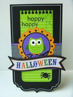 Doodlebug Haunted Manor Halloween Card by Mendi Yoshikawa - Scrapbook.com