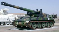 M110 8 inch self propelled howitzer tank.  My first weapon in Desert storm.  reach out and touched someone. 30 km with accuracy of a GPS round.