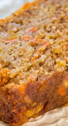 Carrot Apple Bread - Carrot cake with apples added and baked as a bread so it's healthier! Super moist, packed with flavor, fast and easy!