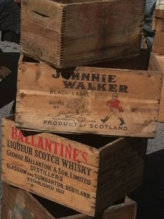 whiskey crates: replace some of our end tables with these . . .