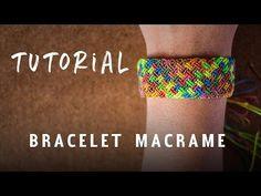 pulseras de hilo ancha paso a paso | tutorial macrame | punto huesito