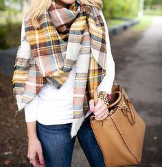 Pretty in Plaid Blanket Scarf - Jess Lea Boutique - 32