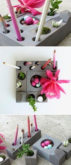 adding plants always makes crafts better