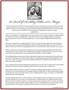 Great printable and message on the birth of Christ. Perfect for a visiting teaching Christmas message.
