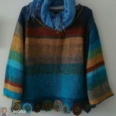 Crochet Cardigan, Knit Crochet, Knitting Stitches, Knitting Patterns, Sweaters For Women, Men Sweater, Wise Women, Unique Dresses, New Fashion