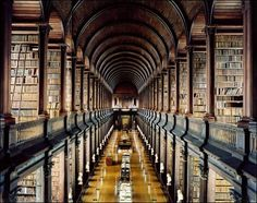 Trinity College library, Dublin, Ireland.  Been there, loved it, had heart palpitations. :)