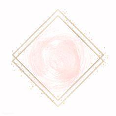 Gold rhombus frame on a pastel pink background vector Pink And Purple Background, Purple Backgrounds, Vintage Backgrounds, Rose Gold Wallpaper, Framed Wallpaper, Flower Graphic Design, Flower Logo, Story Instagram, Logo Background