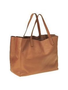 Leather tote by GAP