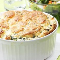 Spinach & Feta Soufflé Recipe This is really really good!  Gonna make it tonight.