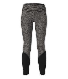 Motivation Leggings. Get motivated to stay active in cold weather with midweight, hybrid #leggings that feature lightweight panels at the calves for improved breathability. VaporWick® technology throughout manages moisture to keep you comfortable during aerobic activity. #yoga