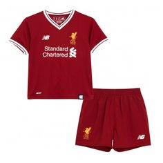 Kids Liverpool 2017 18 Home Soccer Jersey Kit Children Shirt And Shorts  dfba43271