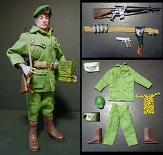 Vintage GI Joe Action Soldier GREEN BERET Premium Figure w/ Japan accessories