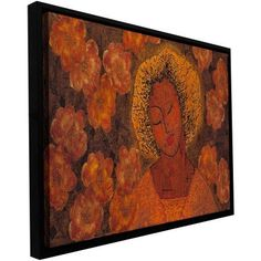 Gloria Rothrock Tahitian Dreams Floater-Framed Gallery-Wrapped Canvas, Size: 24 x 48, Orange