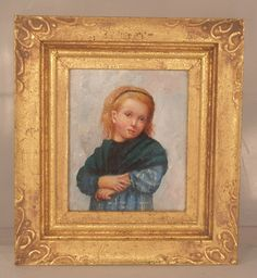 Girl w/A Green Shawl after Albert Anker by Johannes Landman - $575.00 : Swan House Miniatures, Artisan Miniatures for Dollhouses and Roomboxes