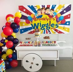 The Wiggles Show Party Backdrop //Guaranteed High Resolution // Digital File Only // You Print It Wiggles Birthday, Wiggles Party, Baby Boy 1st Birthday Party, Girl Birthday Themes, The Wiggles, 1st Boy Birthday, Birthday Ideas, Birthday Backdrop, Birthday Party Decorations
