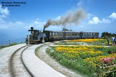 Darjeeling Himalayan Railway,  India- sucha picturesque train ride this is!