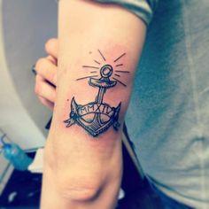 Anker Tattoo symbolisiert Treue und ewige Liebe