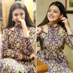 Rate her day two look on scale of Salwar Neck Designs, Kurta Neck Design, Neck Designs For Suits, Sleeves Designs For Dresses, Neckline Designs, Kurta Designs Women, Dress Neck Designs, Designer Party Wear Dresses, Kurti Designs Party Wear