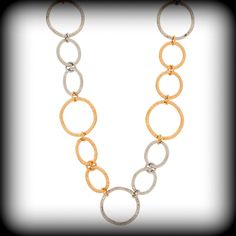 Mixed Circle Chain Link Necklace by designer Marlyn Schiff