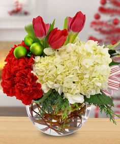 Holiday Floral Bowl by The Painted Daisy #Highland #Utah #florist #flowers