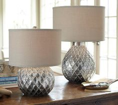 Nola Table Lamp Bases | Pottery Barn :Just bought these and they are gorgeous in person!!