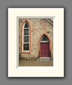 Church Door Matted Photo Religious Christian by JulieMagersSoulen,