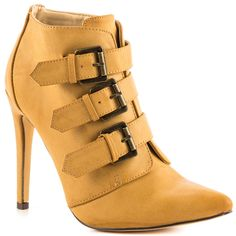 Michael Antonio - Melenny  Price: $60  Make your fashion dreams come true in the Melenny bootie. Michael Antonio showcases a natural synthetic upper with pointed toe and trio of buckles. Last but not least is a 4 1/2 inch stiletto heel.