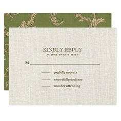 Vintage Pattern Design with burlap texture effect background Wedding Response Cards. Matching Wedding Invitations, Bridal Shower Invitations, Save the Date Cards, Wedding Postage Stamps, Bridesmaid To Be Request Cards, Thank You Cards and other Wedding Stationery and Wedding Gift Products available in the Vintage Design Category of the Best Day Ever store at zazzle.com