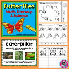 Butterfly Life Cycles: Science, Literacy, Math Informational Writing, Anchor Carts, Printables!  #butterflies $
