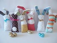 Chenille easter bunny softie