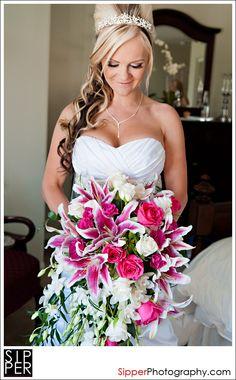 Cascading Flowers  bridal_bouquet_orange_county