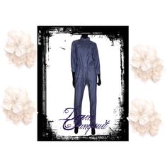 Denim Work overalls, created by fashionlind on Polyvore