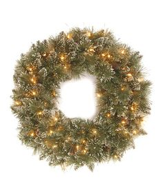Frosted Pine Lighted Wreath #zulily #zulilyfinds