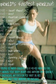 4 minute workout that really gets you sweating