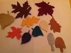 Herfstbladeren van vilt