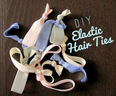 DIY Elastic Hair Ties Crafts To Make, Fun Crafts, Arts And Crafts, Zebra Party, Ribbon Bows, Ribbons, Elastic Hair Ties, Crafty Craft, How To Make Bows