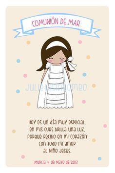 Tarjeta recordatorio Primera Comunión - First Communion Reminder Card