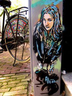 Alice Pasquini - Amsterdam by AliCè, via Flickr