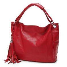 5252f2ab68b2 Bolsas 100% Italian Soft Genuine Leather Tassel Women S Handbag Shoulder  Bags Cow Leather